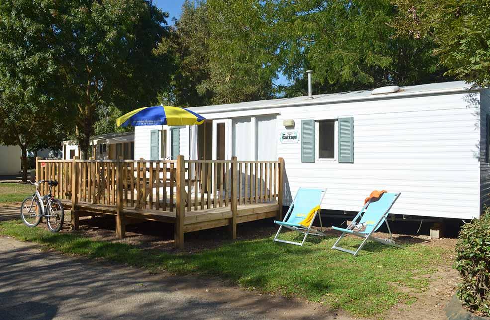 Mobil Home 4/6 Places Gamme Eco avec terrasse bois