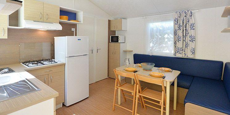 Mobil Home 6/8 Places Confort 3 chambres avec terrasse bois + TV